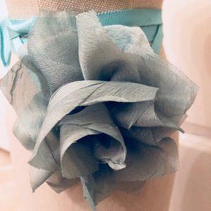 J Crew Turquoise Flower Ribbon Belt 💙